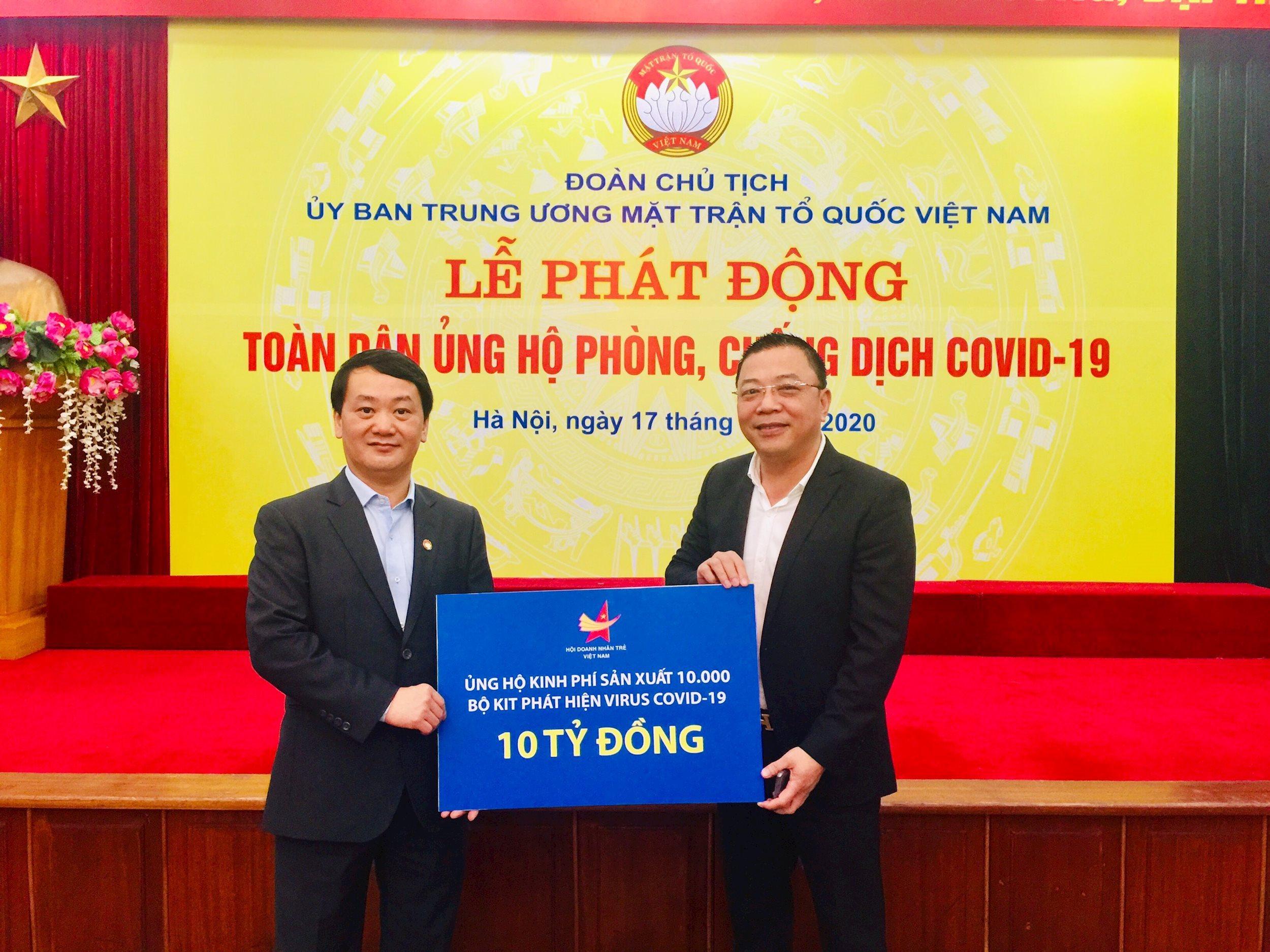 Hội Doanh nhân trẻ Việt Nam ủng hộ 10 tỉ đồng phòng chống dịch ...